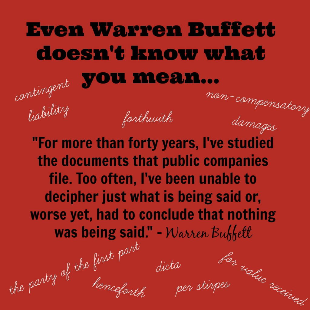 Warren Buffett on plain language 2