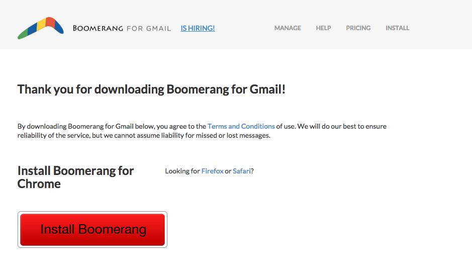 boomerang - install