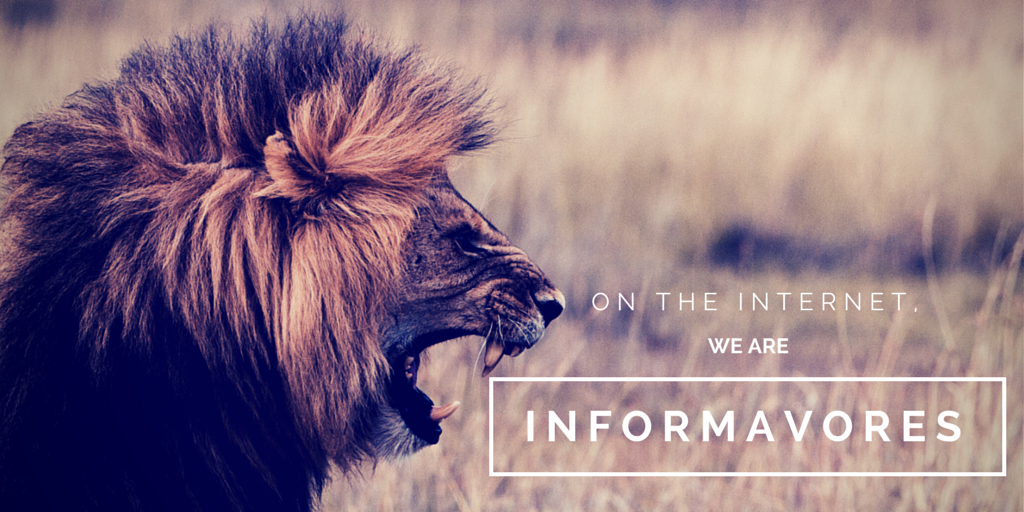 On the Internet, we are 'informavores'