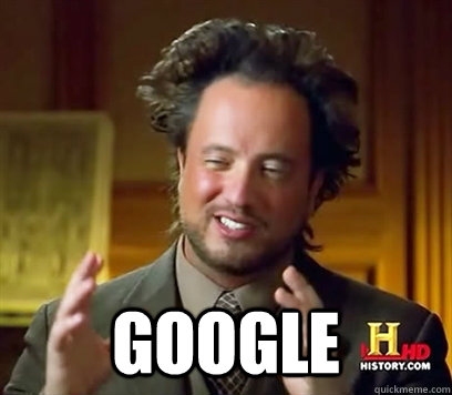 Not aliens, just Google.