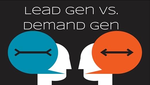 Lead gen vs. demand gen