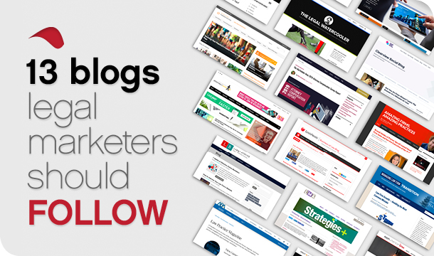 13 blogs legal marketers should follow